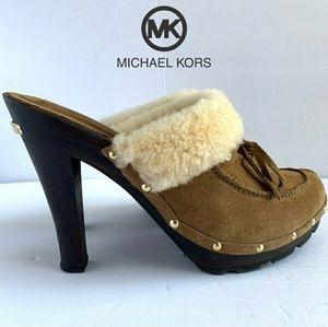 Michael Kors Shearling Clog Heels